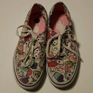 Vans Off The Wall Unicorns Cupcakes Donuts size 7